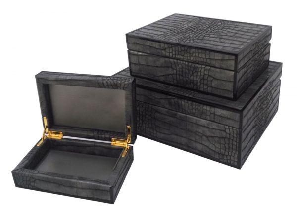 11774,11775,11776-faux-crocodile-box-S,M,L
