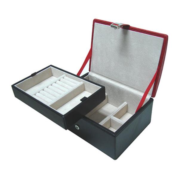 W0135-Red-lizard-skin-jewelry-box-1